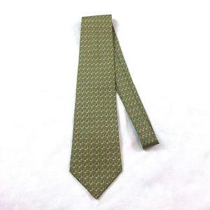 Hermes Paris Tie 59 EA Silk Chain Link Pattern